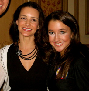 Kristin Davis and I after performing at KMA Charity Event (Charlotte from Sex and the City)