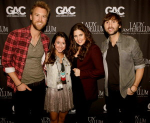 Performed with Lady Antebellum at the American Country Music Awards